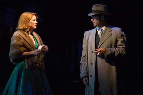 Kelli O'Hara and Steven Pasquale in a scene from Far From Heaven (photo: T. Charles Erickson)
