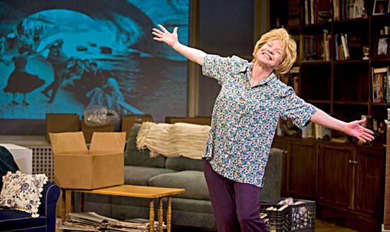 Debra Jo Rupp shines brightly as Dr. Ruth Westheimer. Under Julianne Boyd's direction, Dr. Ruth felt she was watching herself on stage.  (photo: Debra Jo Rupp shines brightly as Dr. Ruth Westheimer. Under Julianne Boyd's direction, Dr. Ruth felt she was watching herself on stage. (photo:  Kevin Sprague)