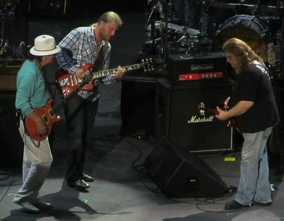 Carlos Santana, Derek Trucks and Warren Haynes