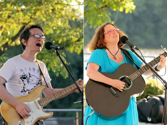 Ben Karis-Nix and Victoria Bouffard @ The Riverlink Singer-Songwriter Festival (photo by Stanley Johnson)
