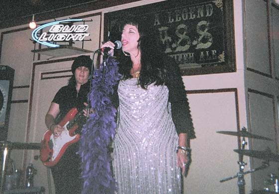 Candye Kane @ Pauly's Hotel 8/18/12.  Photo by Fred Rudofsky