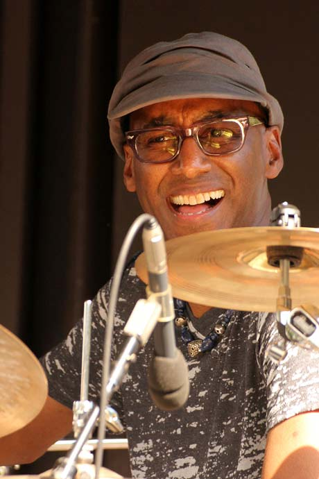 Omar Hakim of the Trio of Oz (photo by Stanley Johnson)