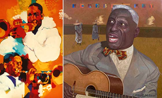 Works by Wilson McLean (left) and Henk Mommaas @ Hudson Opera House