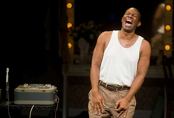 "John Douglas Thompson as Louis ""Satchmo"" Armstrong in Satchmo at the Waldorf by Terry Teachout at Shakespeare & Company, Lenox, MA. (photo: Kevin Sprague)"