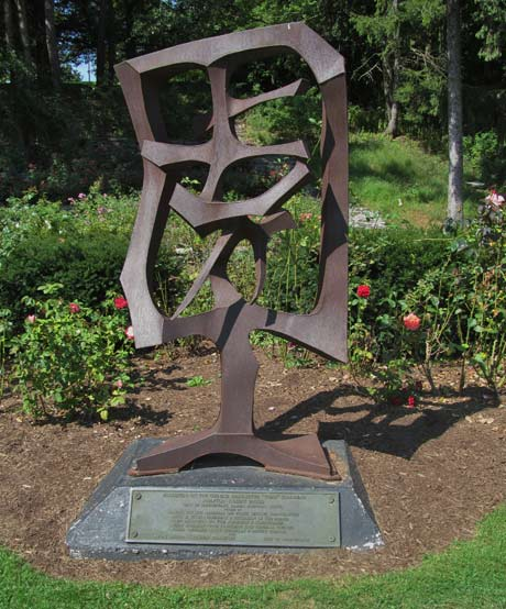 A Bob Blood Sculpture in the Central Park Rose Garden