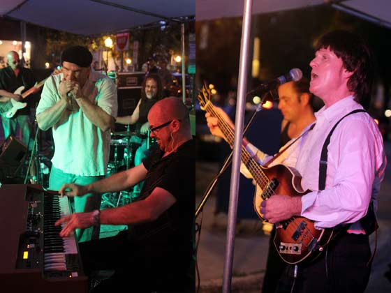 (left) Chris O'Leary Band and (right) The All Paul Show