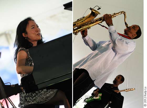 (left) Helen Sung and (right) Swiss Movement Revisited - Les McCann w/Javon Jackson Band and Javon Jackson with Greg Jones