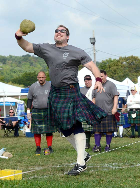 The Stone Throw competition at The Capital District Scottish Games