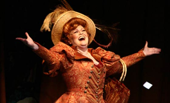 Monica M. Wemitt as Dolly Levi (photo: The Mac-Haydn Theatre)