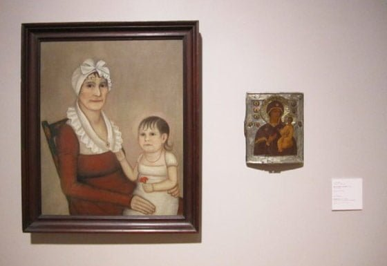 Ammi Phillips, Mrs Goodrich and Child and Unknown Artist: Russian Icon @ Berkshire Museum