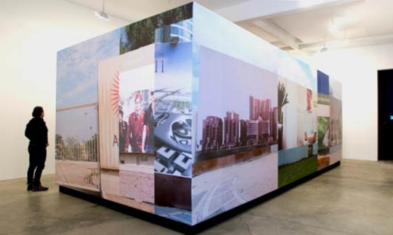Jennifer and Kevin McCoy: Abu Dhabi is Love  Forever (installation view courtesy Postmasters Gallery) @ The Teaching Gallery