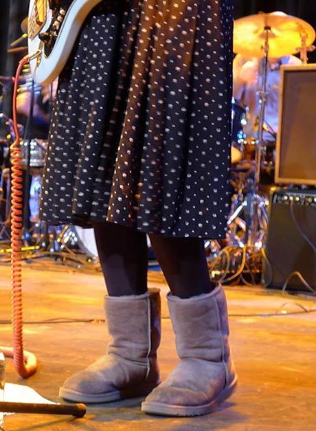 Brenda Sauter of The Feelies @ MASS MoCA, 11/11/11 (photo by Kirsten Ferguson)