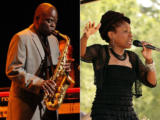 Maceo Parker and Catherine Russell @ The 2012 Freihofer Saratoga Jazz Fest (photos by Stanley Johnson)
