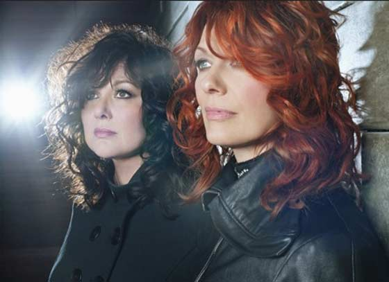 Ann Wilson and Nancy Wilson