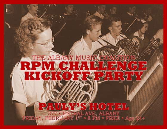 RPM Challenge Kick-Off Jam @ Pauly's Hotel