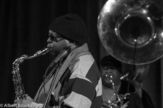 Dirty Dozen Brass Band @ College of St. Rose's Massry Center, 2/9/13 (photo by Albert Brooks)