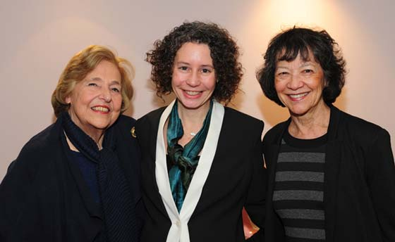 Movers and shakers: Seen here are (l to r) Lola Jaffe, Beryl Jolly and Maggie Buchwald who was elected chair; she succeeds Lola Jaffe who founded the non-profit organization ten years ago and who championed the campaign to restore the 100-year-old Mahaiwe Theater and create a year-round performing arts center. Ms. Jaffe will continue to serve on the board as founding chair. Jolly is the Executive Director responsible for the the day to day operations of the performing arts center.