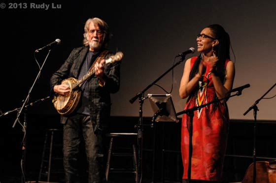 John McEuen and Martha Redbone @ The Eighth Step at Proctors 3/23/13 (photo by Rudy Lu)