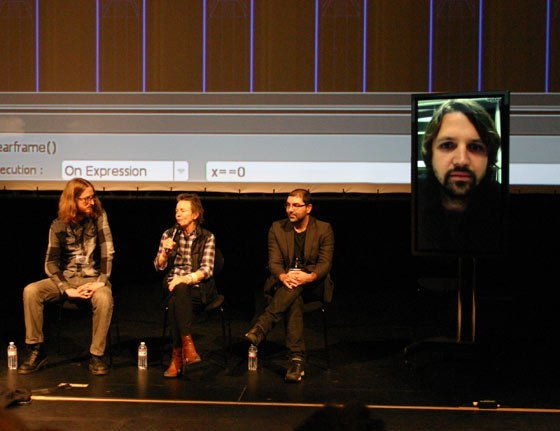 Shane Koss, Laurie Anderson,  Liubo Borissov and Konrad Kaczmarek (via Skype)