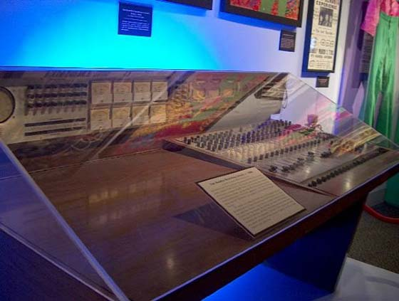the mixing console used by Jimi Hendrix at NYC's Sound Center Studios in March, 1968.