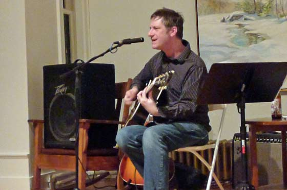 Mike Gent @ The Springs Street Gallery, Saratoga Springs (photo by Kirsten Ferguson)
