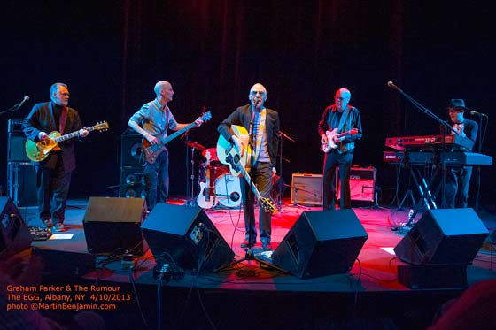 Graham Parker & The Rumour (photo by Martin Benjamin)