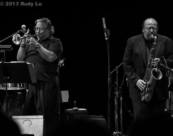 Arturo Sandoval and Ed Calle (photo by Rudy Lu)