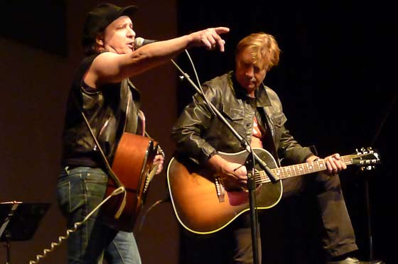 Sylvain Sylvain and Glen Matlock (photo by Kirsten Ferguson)