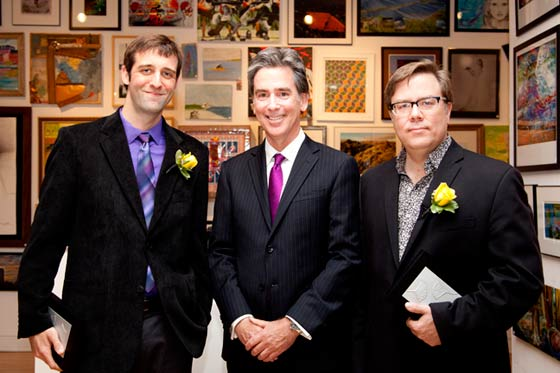 Colin Boyd, Arts Center President Chris Marblo and Michael Oatman.