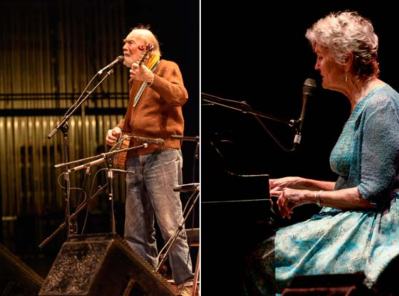 Pete Seeger and Peggy Seeger (photos by Rudy Lu courtesy of The Eighth Step)