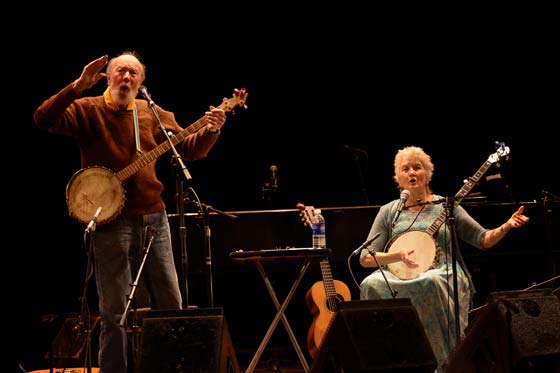 Pete Seeger and Peggy Seeger (photo by Rudy Lu courtesy of The Eighth Step)