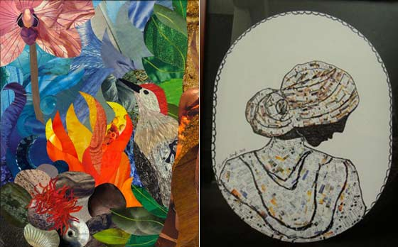Works by Nicolette Callaway left) and Ruxana Saifi @ The Albany Barn