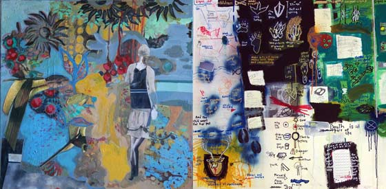Works by Jane Dell and Liz Parsons @ Saratoga Arts