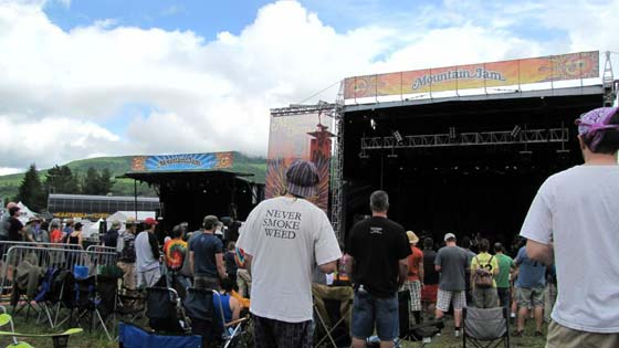 The view at Mountain Jam 2012
