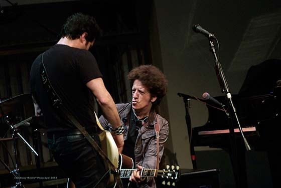"Johnny Pisano and Willie Nile (photo courtesy of The Linda/ Andrzej ""Andre"" Pilarczyk 2013)"