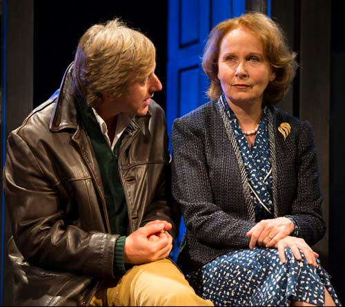 (r) Elizabeth Hapgood (Kate Burton) and (l) Joseph Kerner (Jake Weber) conspire at the Williamstown Theatre Festival. (photo:  T. Charles Erickson)