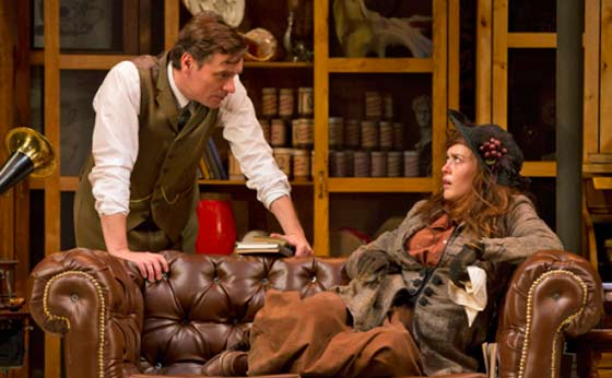 Robert Sean Leonard (l) and Heather Lind in Pygmalion. Photos by T. Charles Erickson.