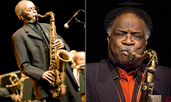 (left) Jimmy Heath and (right) Houston Person
