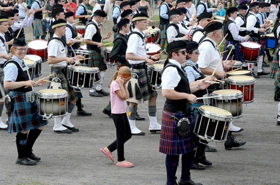 Bagpipe bands