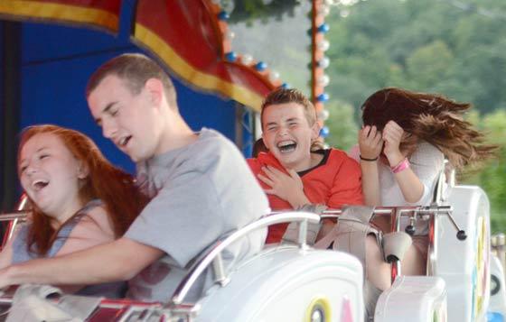 Kids on rides