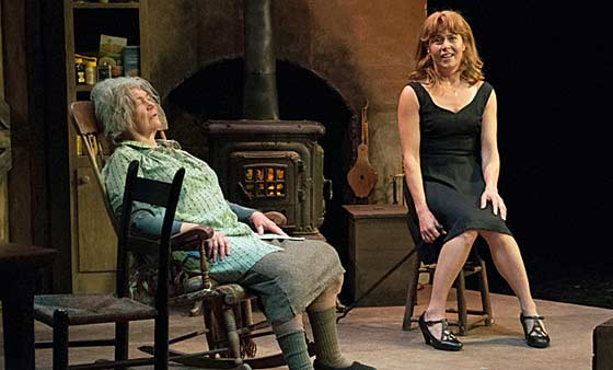 "Tina Packer as Mag, Elizabeth Aspenlieder as Maureen in ""The Beauty Queen of Leenane"". Photo by Enrico Spada"