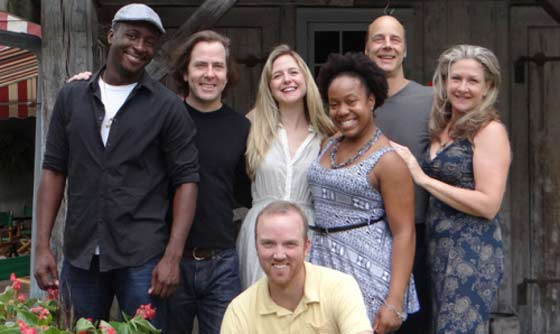 Clybourne Park cast includes (l to r) Andy Lucien, Greg Jackson, Kevin Crouch, Clea Alsip, Lynnette Freeman, Remi Sandri and Carol Halstead. Photo Credit: Brian Jones.