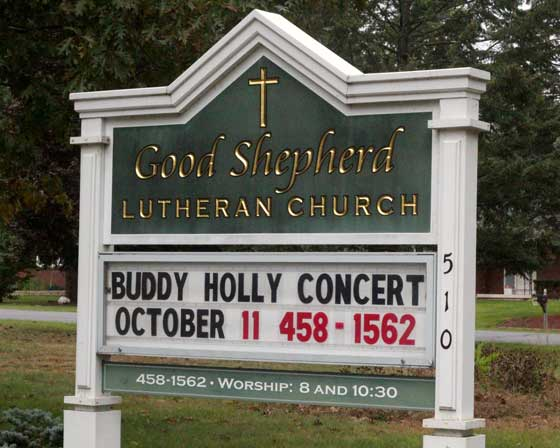 Buddy Holly @ Good Shepherd Lutheran Church