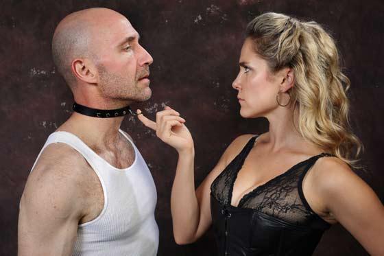 Thomas (Timothy Deenihan) & Vanda (Jenny Strassburg) in Venus in Fur