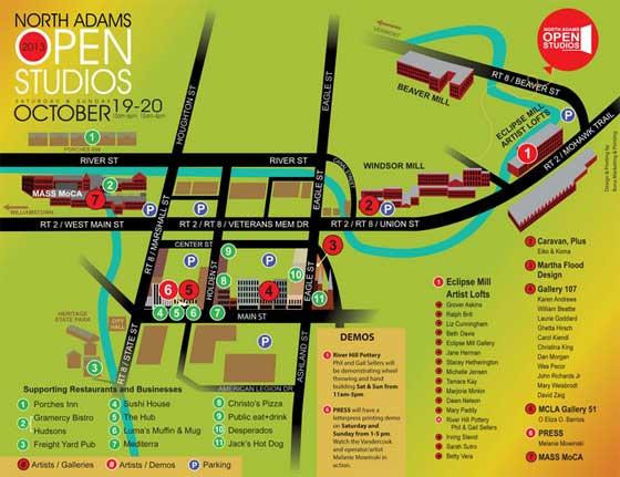North Adams Open Studios:  Saturday, October 19-Sunday, October 20
