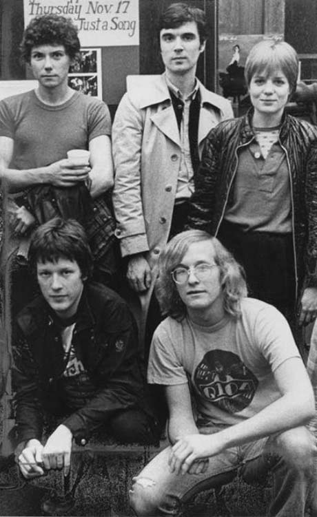 Lin Brehmer (lower right) with the Talking Heads
