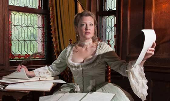 Kim Stauffer as Emilie: La Marquise Du Châtelet.