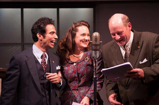 David Joseph, Sarah Taylor and Jonathan Croy in It's A Wonderful Life