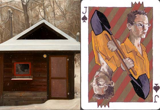 (left) Maria Katzman: Quiet Space and (right) Playing With A Full Deck @ Greene County Council on the Arts