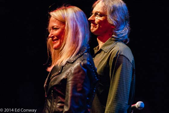Cindy Cashdollar and Sonny Landreth (photo by Ed Conway)